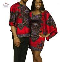 Dashiki Çiftler Giysi Kadınlar ve Erkekler Için Afrika Elbiseler Gömlek Afrika Giysileri Severler için Geleneksel Giyim WYQ961