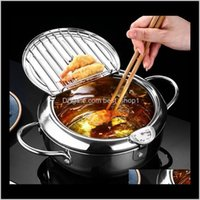 Other Tools Deep Fryer Pan Frying Thermometer For Induction Cooker Oil Strainer Cooking Pot Stainless Steel Fryers Home Kitchen Tool V Mpbnd