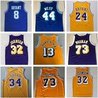 73 # Rodman Shaquille # 34 o Neal Basketbol Aşınma Vintage Formalar Wilt 13 # Chamberlain Jerry # 44West Jersey Shir