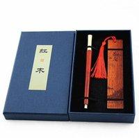 Jel kalemler lüks iş ofis ahşap rulo kalem ve yer imleri hediyeler imzalama için Kırtasiye malzemeleri1