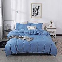 Cubierta nórdica de lija de color sólido nórdico 220x240 Individual Doble Rey Rey Simple Conjunto de ropa de cama Sistema de almohada Ropa de cama (sin sábana)