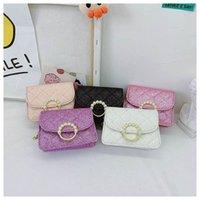 Girls Handbags Kids Accessories Childrens Handbag Fashion Shell Pearl Shoulder Messenger Bag Leather Princess Chain Purses B7230