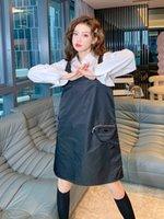 2021 Mulheres Dress Street Style Brand Long Shirts Limited Edition Cinto Decoração Detalhe Processamento Perfeito Material de Qualidade Material Lapela Mola Blusas para Feminino