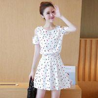 Женщины мода стиль короткое летоное платье подчеркнут вашу хорошую фигуру тело сделать выглядеть стройная фея леди девушка юбка сексуальная 210528