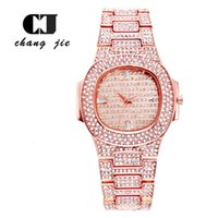 CJ 고급 패션 캘린더 다이아몬드 남성 시계 팔찌 스타 쿼츠 럭셔리