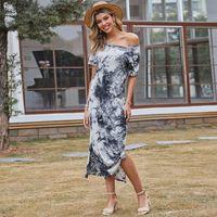 Crew neck fashion luxury designer women dresses Medium and long term Casual Clothing woman clothes V collar skirt summer Dress