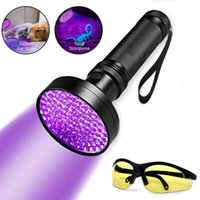 Torce Torce 51/100 LED 395nm Torcia UV Lampada Sicurezza Ultraviolet Detection Ultra Violet Night Light Anime Galaxy Lanterna
