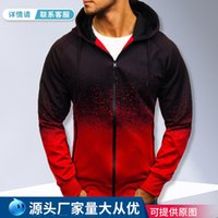 Spring and autumn hooded jacket casual fashion digital printing gradient sweater men's casualDGFL{category}