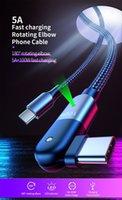 5A Type-C إلى C PD سريع شحن الكابلات 60W / 100W 180 درجة الدورية مايكرو USB مزامنة بيانات Samsung Huawei Xiaomi All الهواتف