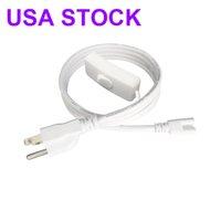 T8 / T5 Zintegrowany przełącznik LED Oprawa Light Light Cable przewód zasilający AC z 3-Prong US Plug do garażu, warsztatów, magazynowe oświetlenie handlowe USA