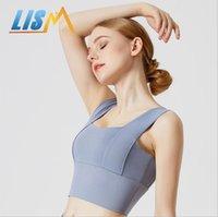 Gym Clothing LISM Women Sports Workout Bra Vest Underwear Bralette Athletic Running Yoga Crop Top Bras