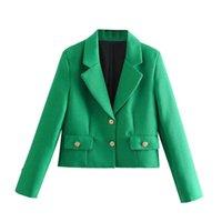 Women's Suits & Blazers 2021 Spring Summer Women Female Sexy Polyester Blazer Brand Blouse Outwear Suit