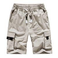 Erkek Yaz Şort Pantolon Pamuk Takım Koruyucu Gevşek Büyük Boy Rahat Pantolon Rahat Moda İpli Şort Fitness Cep Tasarımı