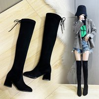 Thick Leg Stretch Over-The-Knee Boots Women S 2021 Autumn New Long Boots Fashion Women S Boots 41-43 Women S
