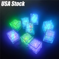 LED Ice Cubes Glowing Party Ball Flash Light Luminous Neon Wedding Festival Christmas Bar Wine Glass Decoration Supplies(Stock In USA)