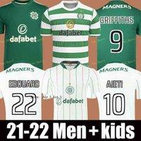 21 22 Jerseys de Futebol Celtic Versão do jogador Edouard Ajeti Griffiths Turnbull McGregor Correa Christie Goleiro 2021 2022 Homens + Kit Kit Camisas de futebol