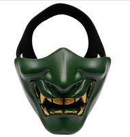 Смеющийся Prajna Тактический дизайнерская маска Cos Devil Coveror Хэллоуин Гримас мужской и женский взрослый половина лицевой маски 610