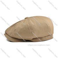 BOTVELA Big Large Newsboy Cap Men Twill Cotton Eight Panel Hat Women Baker Boy Caps Khaki Retro Hats Male Boina Beret 003
