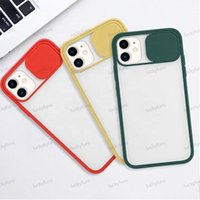 Slide Camera Hard Cases Frosted Translucent Shockproof Lens Phone Cover case For iPhone 11 pro Max XR SE 8 7 Plus 6s