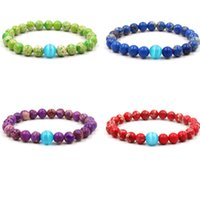 Handmade 8mm Natural Stone Beaded Strands Charm Bracelets For Women Men Party Club Yoga Sports Jewelry
