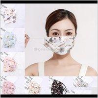 Designer frau chiffon sonnencreme frühling sommer atmungsaktive dame mund waschbar wiederverwendbare maske floral gesicht masken exbab 50mc4