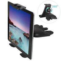 Слот CD Автомобильные монтажные телефонные таблетки держатель для iPad iPhone 11 12 Pro Max Samsung S21 S20 Galaxy Tab