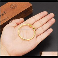 Small Lovely Dubai Africa Bangle Arab Gold Charm Girls India Anklet Bracelet Jewelry For Kids Baby Birthday Gift Xty2L 28Bh1