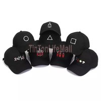 Squid Game Baseball Caps Fashion Bucket Hat Cosplay Costumes Prop Sports Casual Geometric Design for Man Woman Ball Cap 8 Color