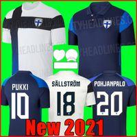 2021 جديد فنلندا الفريق الوطني لكرة القدم جيرسي pukki skrabb raitala جينسن اللود مخصص الكبار المنزل قميص كرة القدم
