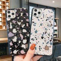 Terrazzo Small Steingold Glitter Flocken Telefon Hüllen für iPhone 12 11 Pro Promax X XS MAX 7 8 plus Fallabdeckung