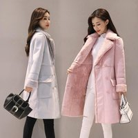 Women's Wool & Blends FNOCE 2021 Winter Jeackts Fashion Casual Elegant Solid Long Sleeve Plus Velvet Thickened Warm Slim Coats And Jacket