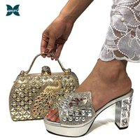Dress Shoes 2021 Fashion Style Slingbacks Office Lady And Bag To Match In Silver Color Italian Design Women Party Matching