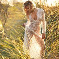 Casual Dresses Women Beach Dress Swimwear Lace Chiffon Crochet Cover Up Bathing Suit S Es Pechincha Sexy