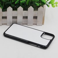 For IPhone 12 11 Pro XR XS Max 8 PLUS 7 6 6S 5C 4 DIY 2D Sublimation Blank Hard Plastic Mobile phone Cover Case With Gule and Aluminium Plate For Samsung S21 ultra S20 plus