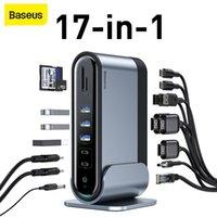 HUBS BASEUSE 17 IN 1 HUB ADAPTATEUR DE HUB DE TYPE A TO MULTI HD RJ45 VGA USB 3.0 2.0 avec station d'accueil de travail en puissance pour ordinateur portable