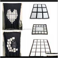 Sublimation Blanks Blanket Plaid With Tassels 9 15 20 Grids Mat Heat Transfer Printing Sofa Throw Home Outdoor Blankets Sea Ship Qidlz 0Dvjg