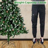 크리스마스 트리 7ft 1350 분기 몰려 들고 스프레이 흰색 나무 플러스 소나무 콘 (YJ)