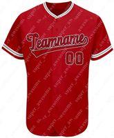مخصص البيسبول جيرسي شخصية مطبوعة اليد مخيط tianshi الأحمر الفانيلة الرجال النساء الشباب