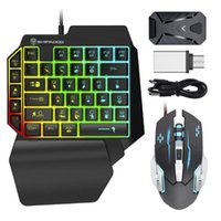 Keyboard Mouse Combos Wired Mechanical Backlight And RGB Converter Combo Set With Rainbow For PS4 PS5 switch xbox One X S