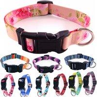 Colliers de chien de luxe pour animaux de compagnie pour animaux de luxe confortable coloré coloré coloré collier de sublimation de sublimation flanks Bohême Britannique Style Britannique 10 couleurs