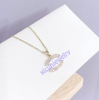 Open as C Designer Letter Necklace Gold Plated Necklaces Crystal Diamond Pendant Clavicle Chain for Women Banquet Jewelry Zero Profit