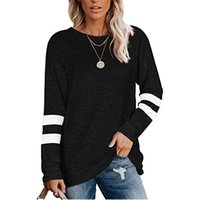 2020 New Women T-shirts Casual Plus Size Solid Color Linen O-Neck Long Sleeve Irregular Tunic Tops For Women Clothing