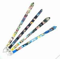 작은 도매 20pcs 만화 일본 애니메이션 원피스 끈 스트랩 키 체인 ID 카드 교수형 로프 슬링 넥 펜던트 소년 소녀 선물 # 10