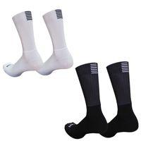 New Silicone Anti Slip Seamless Cycling Socks Men Pro Aero Breathable Wearproof Road Bike Calcetines Ciclismo