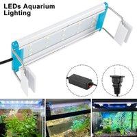 Aquarien Beleuchtung Super Slim LEDs Aquarium Aquatic Plant Light 18-75cm Extensible Wasserdichte Clip auf Lampe für Fischtank