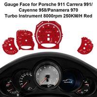 I lettori di codice Strumenti di scansione Strumenti di scansione Rosso Adesivo viso per 911 Carrera 991/958 / Panamera 970 Turbo Strumenti strumento Sovrappostamento di strumenti 250 km
