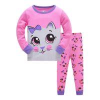 Kids Pajamas Cartoon Pyjama Girls Cute Sleepwear Children Cotton Clothes Animal Pjs