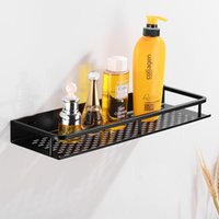 Bathroom Shelves Shelf Corner Organizer Aluminum Shower Storage Rack Wall Mounted Basket Shampoo Black