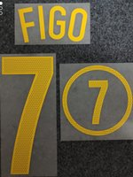 2004 #7 FIGO outdoor sports Accs collectable printing soccer nameset national team football player's stamping letters impressed numbering plastic printed stickers