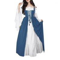 Rosetic Women Dress Vestidos Verano 2020 Bandage Corset Medieval Renaissance Vintage Dresses Square Collar Party Club Elegant1